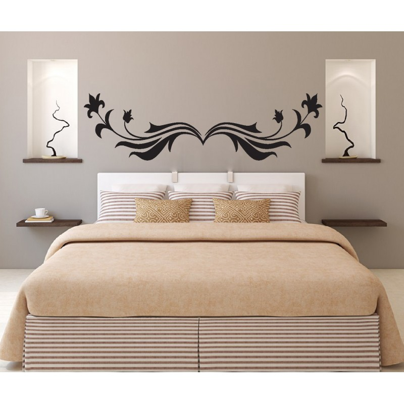 stickers muraux t te de lit art d co stickers. Black Bedroom Furniture Sets. Home Design Ideas