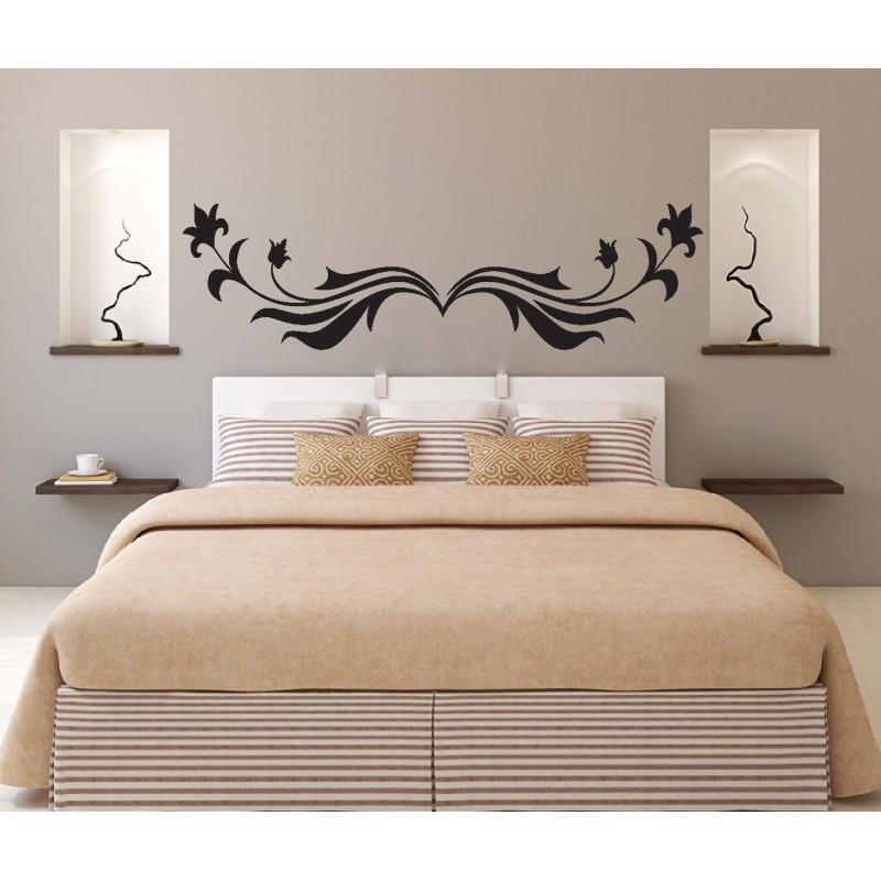 stickers muraux t te de lit art d co stickers. Black Bedroom Furniture Sets. Home Design Ideas