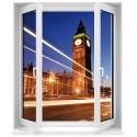 Sticker Fenêtre trompe l'oeil Londres