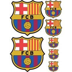 Stickers autocollants Foot FC Barcelone 42x29cm