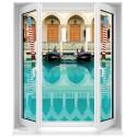 Sticker Fenêtre trompe l'oeil Venise