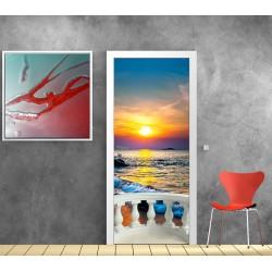 Stickers porte Balcon Coucher de Soleil Réf 9542