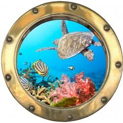 Sticker hublot Caraibes