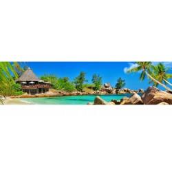 Brise vue imprimé panoramique déco Les Caraibes