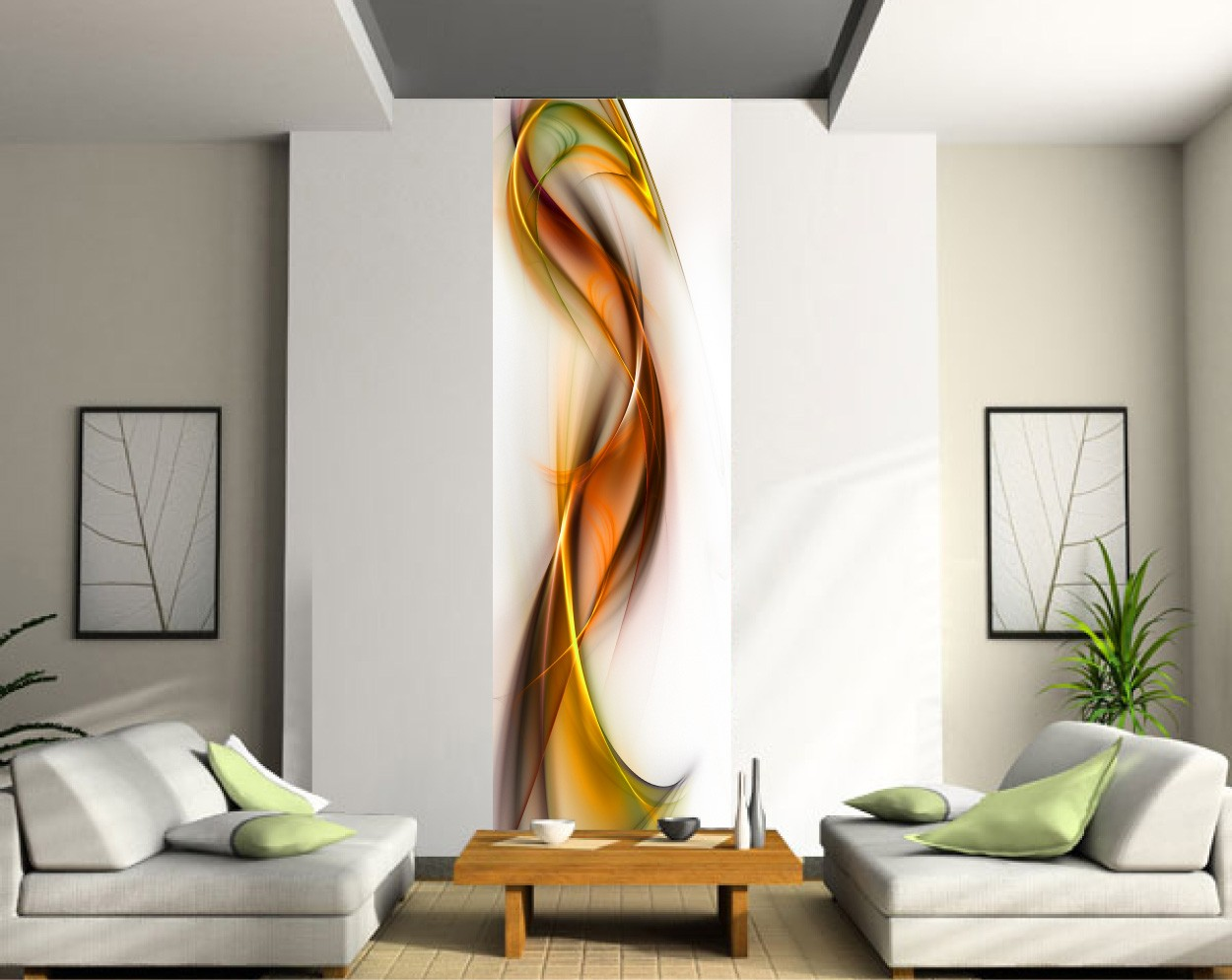 Poster trompe l oeil latest waterfall view trompe luoeil - Grand poster mural pas cher ...