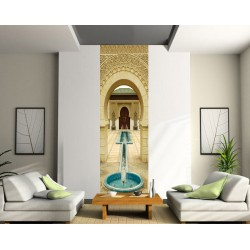 Sticker mural grand format fontaine
