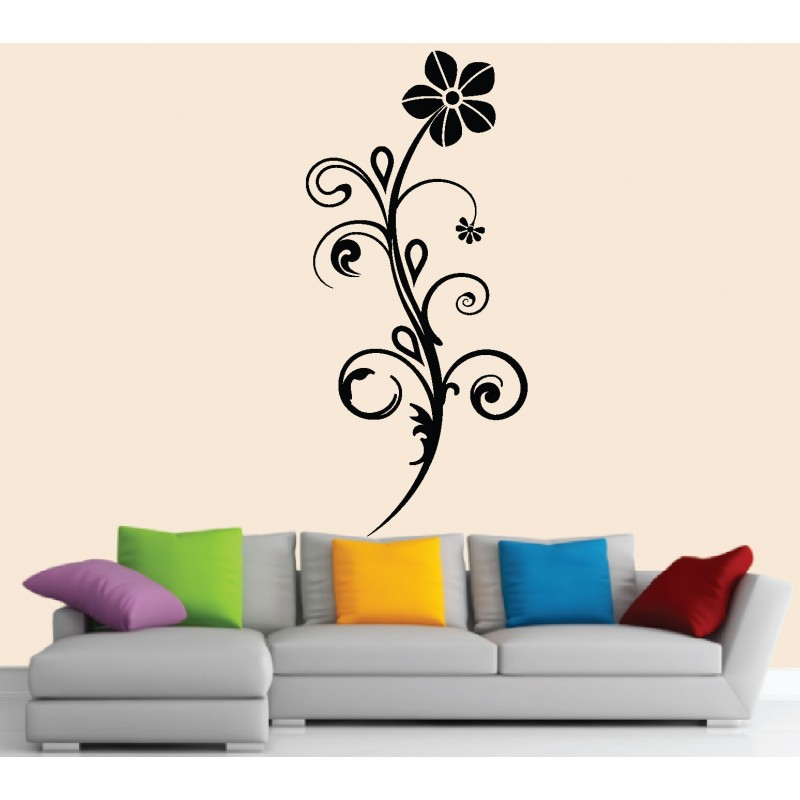 Stickers muraux fleur d sign art d co stickers for Stickers muraux
