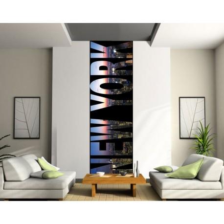 Sticker géant trompe l'oeil New York