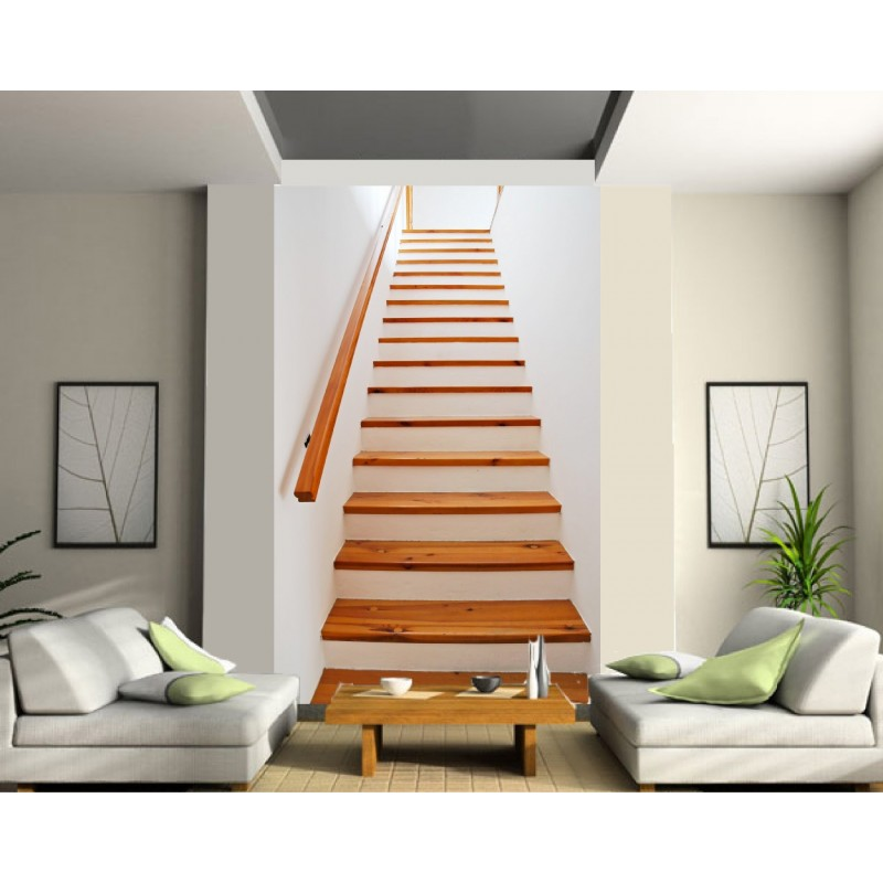 sticker mural g ant trompe l 39 oeil mont e d 39 escalier art d co stickers. Black Bedroom Furniture Sets. Home Design Ideas