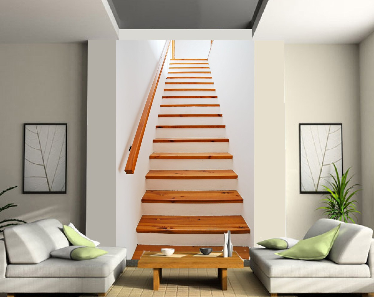 Poster mural trompe l oeil fashion designs for Deco montee d escalier