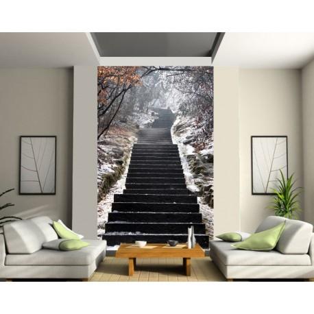 sticker mural géant trompe l'oeil escalier - art déco stickers