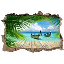 Stickers 3D Trompe l'oeil Caraibes réf 23727