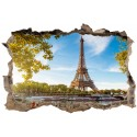 Stickers 3D Trompe l'oeil Tour Eiffel réf 23729