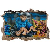 Stickers 3D Trompe l'oeil Tag DJ réf 23737