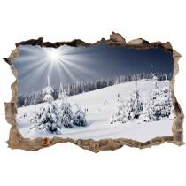 Stickers 3D Trompe l'oeil Montagne Neige réf 23743