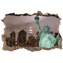 Stickers 3D Trompe l'oeil Statue de la liberté réf 23746