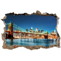 Stickers 3D Trompe l'oeil New York