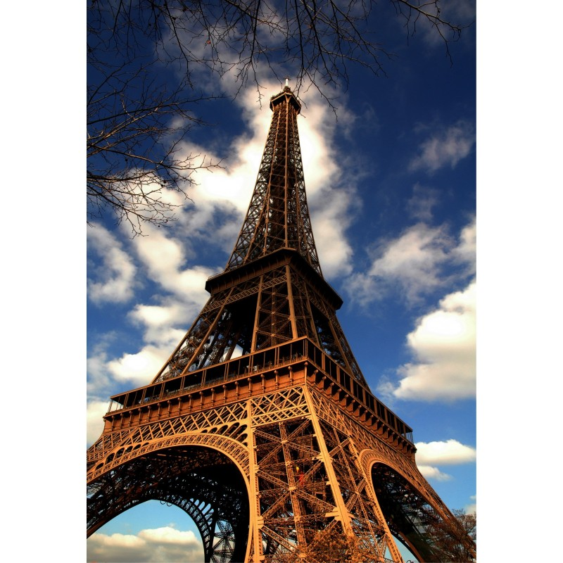 sticker trompe l 39 oeil g ant paris tour eiffel art d co stickers. Black Bedroom Furniture Sets. Home Design Ideas