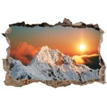 Stickers Trompe l'oeil 3D Montagne