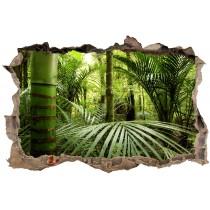 Stickers Trompe l'oeil 3D Bambous