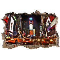 Stickers Trompe l'oeil 3D 3D New york Taxi