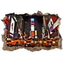 Stickers Trompe l'oeil 3D 3D New york Taxi