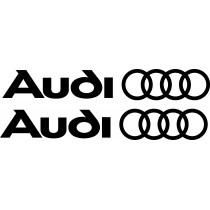 2 Stickers autocollants Audi
