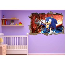 Stickers enfant 3D Sonic