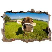 Stickers 3D Trompe l'oeil Vache