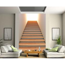 Sticker trompe l'oeil géant montée d'escalier