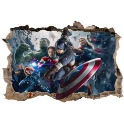 Stickers enfant 3D Avengers