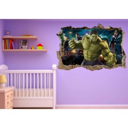 Stickers enfant 3D Hulk Avengers