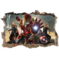 Stickers enfant 3D Iron Man Avengers
