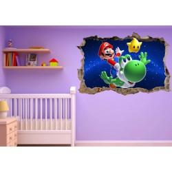 Stickers enfant 3D Mario Galaxy