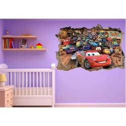 Stickers enfant 3D Disney cars