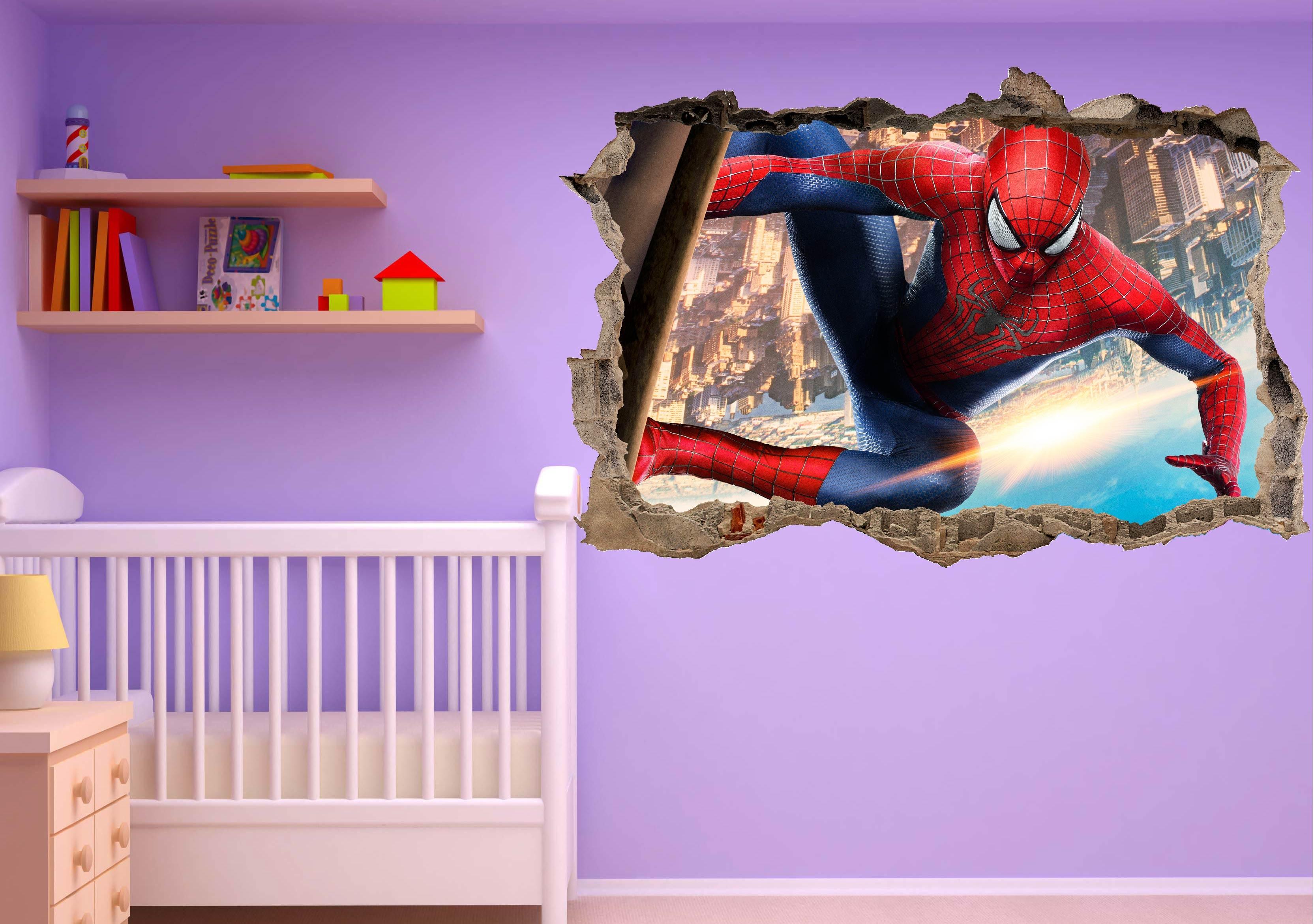 Stickers enfant 3D Spiderman - Art Déco Stickers