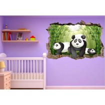 Stickers enfant 3D Panda