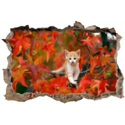 Stickers 3D Trompe l'oeil Chat 23831