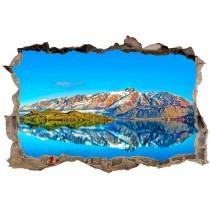 Stickers muraux 3D Lac montagne 23843