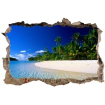 Stickers muraux 3D Tropiques 23844