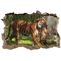 Stickers muraux 3D Tigres 23848
