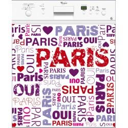 Sticker lave vaisselle I love Paris ou magnet lave vaisselle