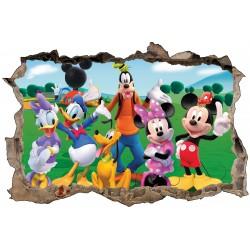 Stickers enfant 3D Mickey et ses amis