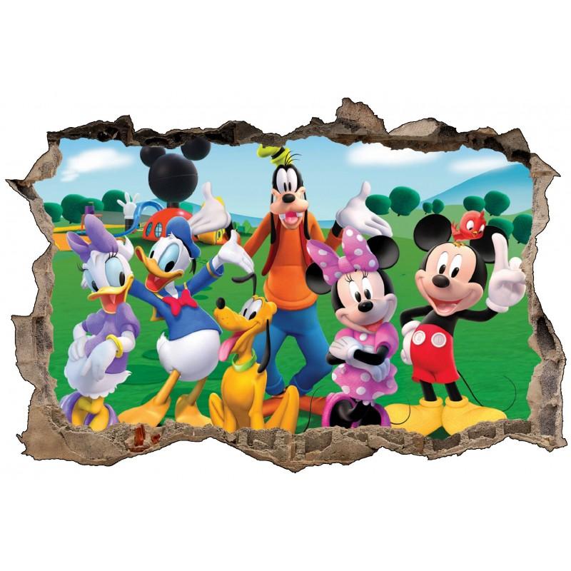 Stickers enfant 3d mickey et ses amis art d co stickers - Amis de mickey ...