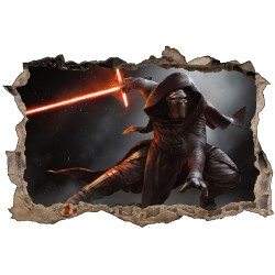 Stickers enfant 3D Star Wars Kylo Ren