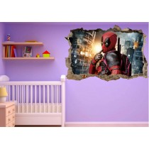 Stickers enfant 3D Deadpool