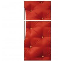 Sticker frigo capitoné rouge 70x170cm