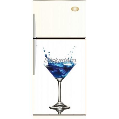 Sticker frigidaire Cocktail Curaçao Bleu