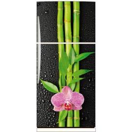 Sticker frigo fleur bambous 70x170cm