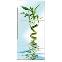 Sticker frigo bambou reflet 70x170cm